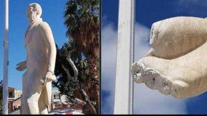 ΝΤΡΟΠΗ Νέα βεβήλωση του αγάλματος του Καποδίστρια στο Ναύπλιο - Του έκοψαν τα δάχτυλα