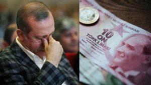 Η τουρκική λίρα καταρρέει και ο Ερντογάν «καίει» δισεκατομμύρια