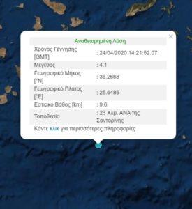 EKTAKTO : Σεισμός «ταρακούνησε» τη Σαντορίνη. ΤΟ ΗΦΑΙΣΤΕΙΟ ΞΥΠΝΗΣΕ;