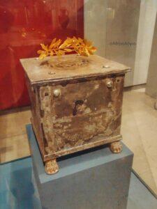 Η λάρνακα του Σπαρτίατη στρατηγού Βρασίδα Ένα από τα κορυφαία εκθέματα του μουσείου της Αμφίπολης