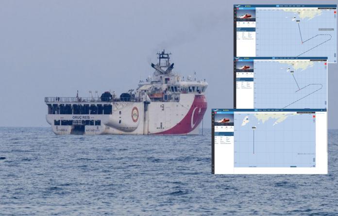 """Τα 12 ναυτικά μίλια """"έσπασαν""""! Στα 11,2 ν.μ από το Καστελόριζο έφθασε το Oruc Reis-Χάρτες"""