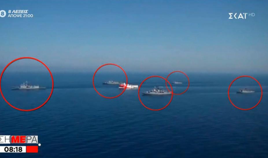 Η σύνθεση των πλοίων συνοδείας του Ορούτς Ρέις - Το... πάθημα των Τούρκων