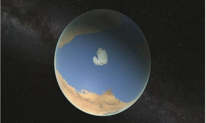Στον Άρη, ένας ωκεανός παγιδευμένος σε πέτρες