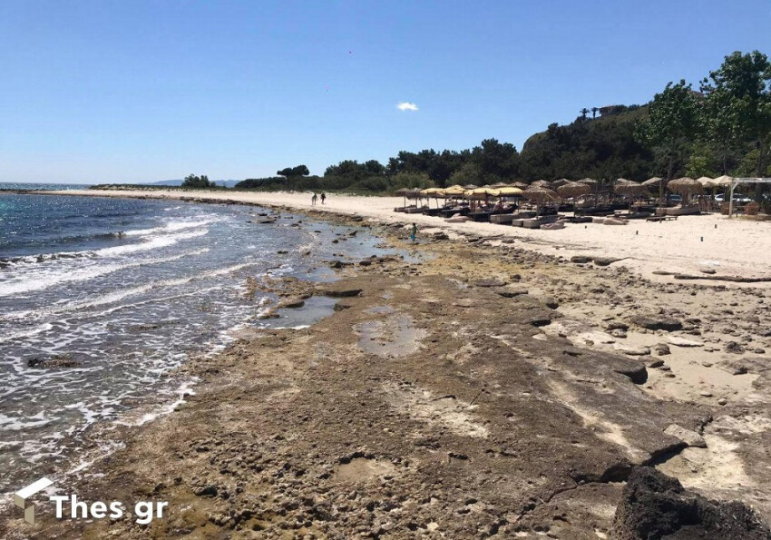 Χαλκιδική: Πήγαν για μπάνιο αλλά η θάλασσα έλειπε - Επιμένει η άμπωτη