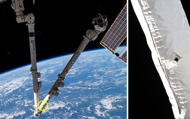 Διαστημικό σκουπίδι έπεσε πάνω στον Διεθνή Διαστημικό Σταθμό