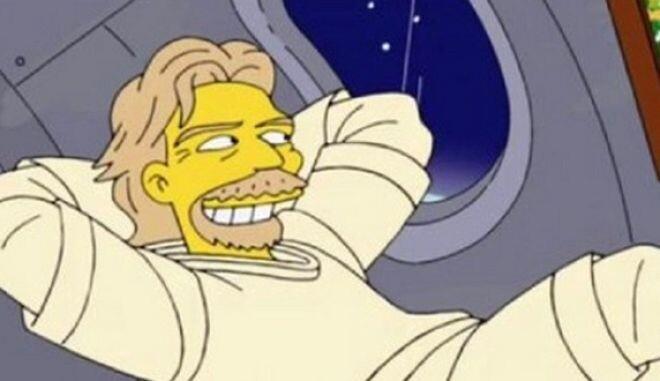 Οι Simpsons είχαν προβλέψει πως ο Μπράνσον θα έφτανε στο διάστημα